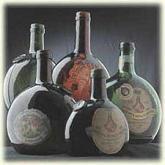 Old Frankonian wine bottles - the Bocksbeutel