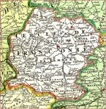 Old map of Franconia